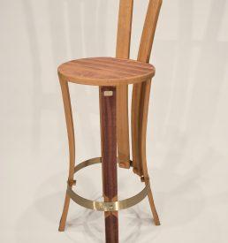 chaise de bar brut de fut 1 cercle couleur vin