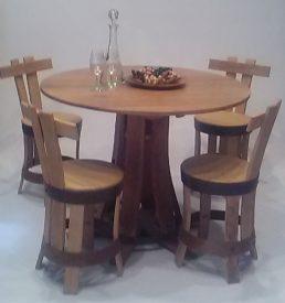 table à manger maitre de chaix et chaises de table brut de fut